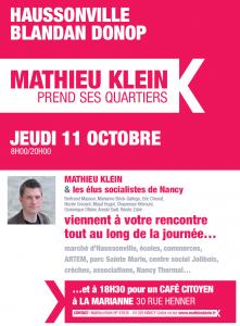 Haussonville, Blandan, Donop : Mathieu Klein prend ses quartiers