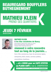 Mathieu Klein prend ses quartiers : Beauregard, Boufflers, Buthegnémont