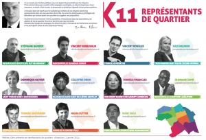 11 « ambassadeurs » sur chacun des quartiers de la ville
