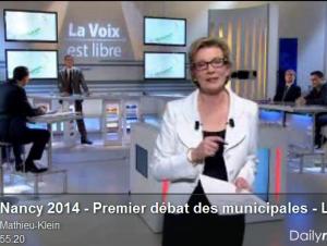 Nancy 2014 – Premier débat des municipales – La voix est libre (France 3 Lorraine)