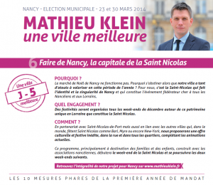 J-5 | 6/ Faire de Nancy la capitale de la Saint Nicolas