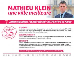 J-4 | 7/ Un Nancy Business Act pour soutenir les TPE et PME de Nancy