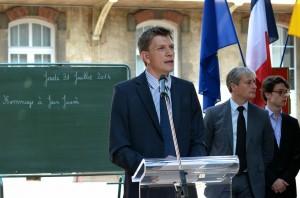 Hommage commun du conseil général de Meurthe-et-Moselle et de la ville de Nancy à Jean Jaurès