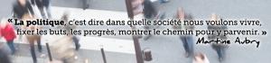 Ensemble réussir, la contribution de Martine Aubry
