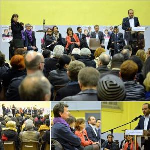 Retour en images sur le grand rassemblement commun aux candidats des 3 cantons de Nancy