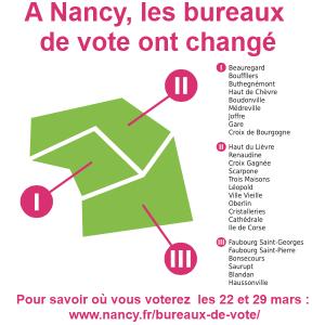 Savoir où voter les dimanches 22 et 29 mars à Nancy