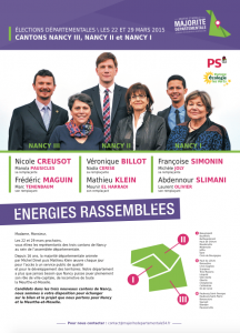 Départementales 2015 – Canton de Nancy-2 : Premier document de campagne