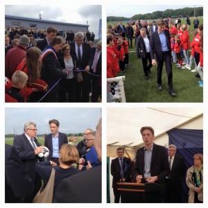 Inauguration du terrain de foot en pelouse synthétique d'Hussigny